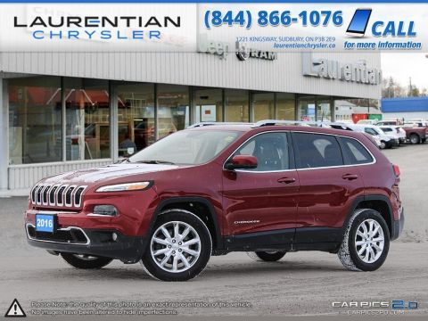 Pre-Owned 2016 Jeep Cherokee Limited - HEATED SEATS AND STEERING WHEEL - CLEAN CARPROOF