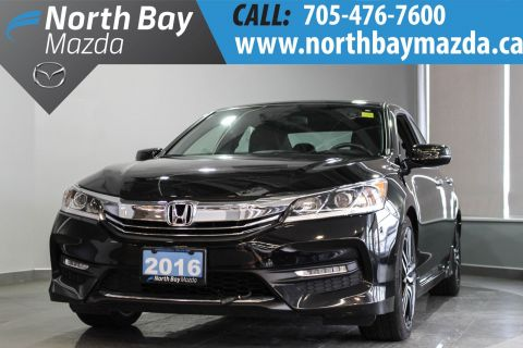 Certified Pre-Owned 2016 Honda Accord Sport Elegant Design + Spacious + Fuel Efficient FWD 4dr Car