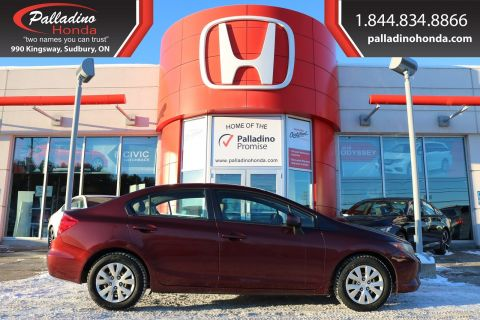 Pre-Owned 2012 Honda Civic Sdn LX - SELF CERTIFY -