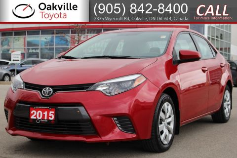 Certified Pre-Owned 2015 Toyota Corolla LE with Single Owner and Low Kilometres FWD 4dr Car