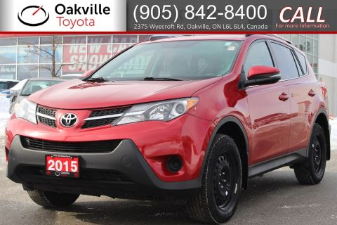 Pre-Owned 2015 Toyota RAV4 LE with Low Kilometres, Clean Carfax, and Single Owner AWD