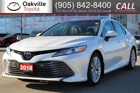 Certified Pre-Owned 2018 Toyota Camry XLE with Clean Carfax and Full Toyota Service History