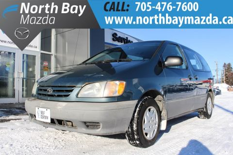 Pre-Owned 2002 Toyota Sienna CE Self Certify FWD Mini-van, Passenger