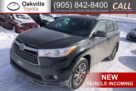 Certified Pre-Owned 2016 Toyota Highlander XLE with Clean Carfax, Low Kilometres, and Single Owner