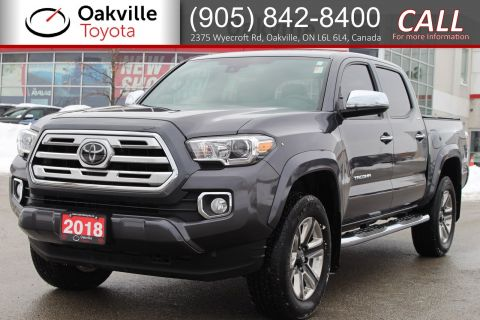 Certified Pre-Owned 2018 Toyota Tacoma Limited with Clean Carfax and Single Owner With Navigation & 4WD