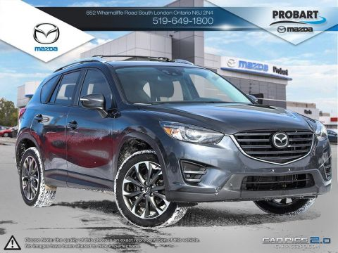 Pre-Owned 2016 Mazda CX-5 | GT | Leather | Moonroof | AWD | Heated Seats With Navigation & AWD