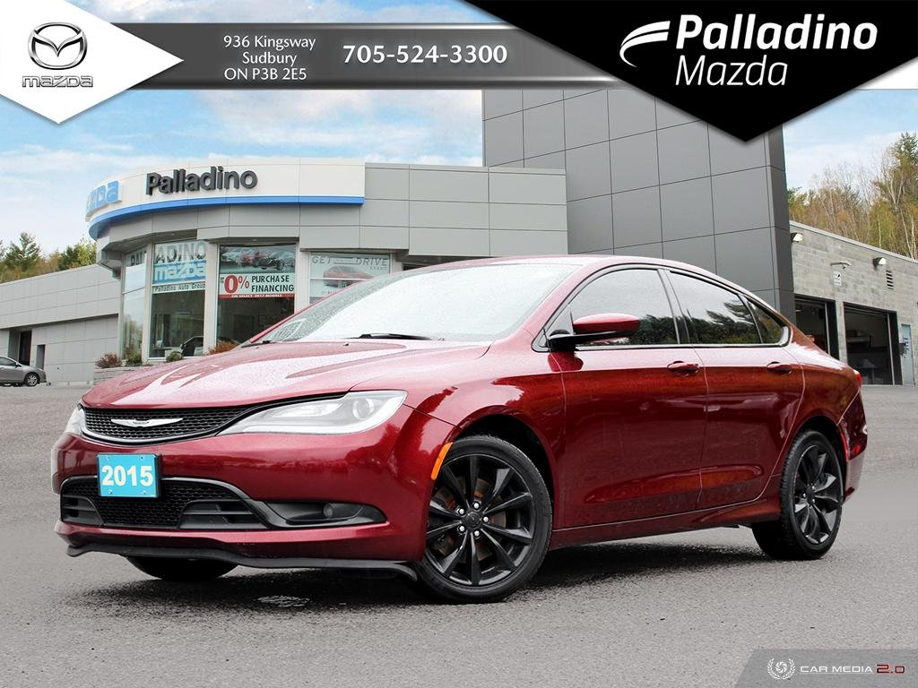 Pre-Owned 2015 Chrysler 200 S - POWERFUL V6! - 295 HORSEPOWER - CERTIFIED