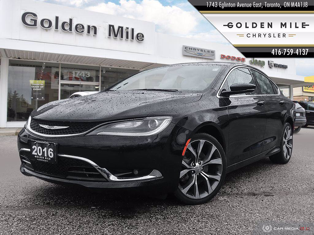 Pre-Owned 2016 Chrysler 200 C|ALLOYS|FWD|BACK UP CAM|NAVI|LEATHER|SUNROOF