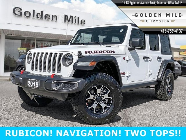 Certified Pre-Owned 2019 Jeep RUBICON NEW JL BODY STYLE!! TWO TOPS