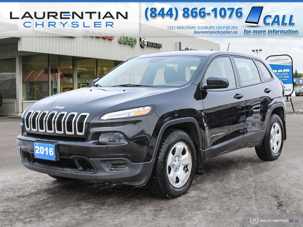 Pre-Owned 2016 Jeep Cherokee Sport!! 4WD!! HEATED WHEEL!! HEATED SEATS!!