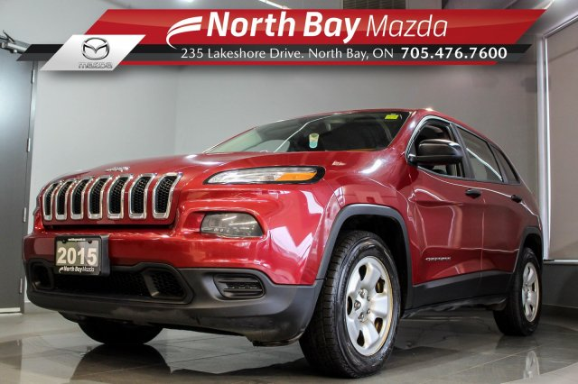 Pre-Owned 2015 Jeep Cherokee Sport 4X4 V6 with Bluetooth, Cruise, Floor Liners