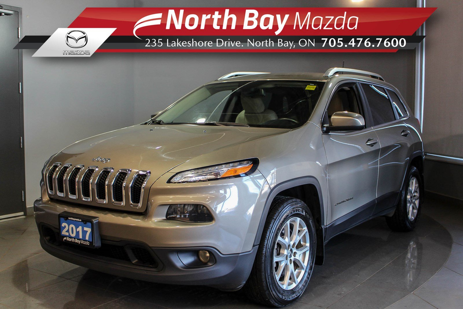 Pre-Owned 2017 Jeep Cherokee North 4x4 with Heated Seats, Cruise, Bluetooth