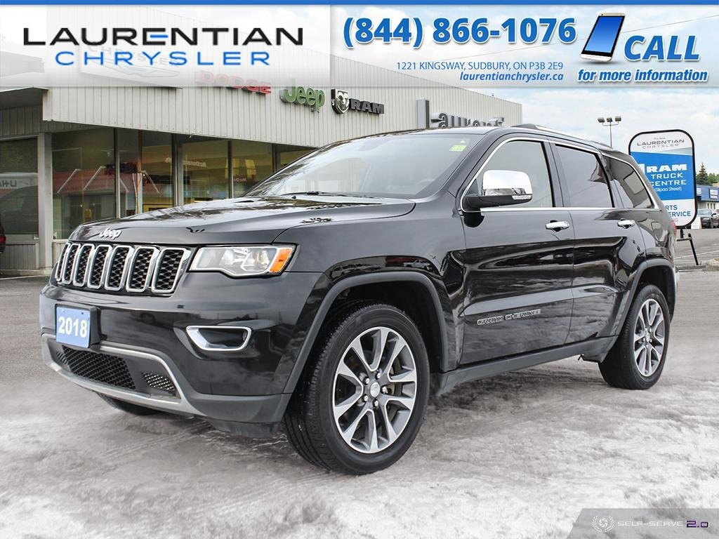 Pre-Owned 2018 Jeep Grand Cherokee Limited - SUNROOF ! LEATHER ! V6 !