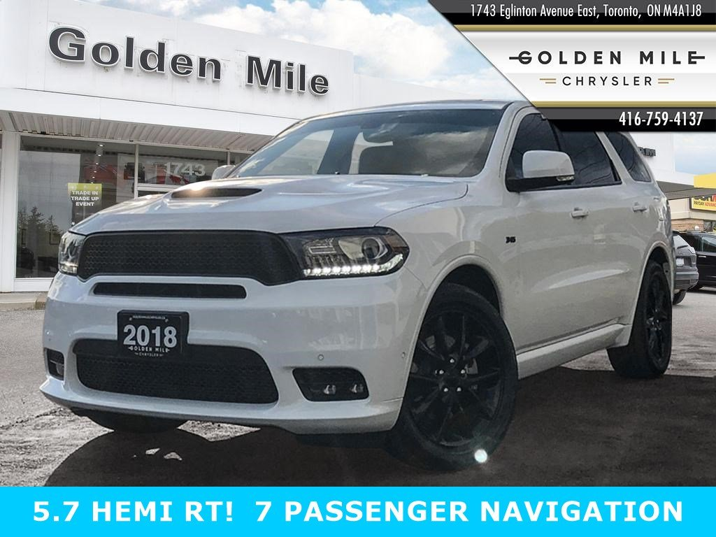Certified Pre-Owned 2018 Dodge Durango R/T 7 PASSENGER AWD NAVIGATION