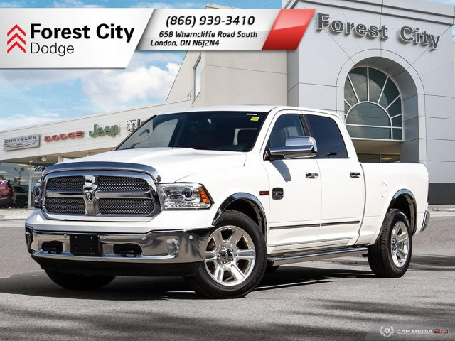 Pre-Owned 2016 Ram 1500 Longhorn, LARMIE, LEATHER, MOONROOF, NAVIGATION, CHROME WHEELS, 4X4