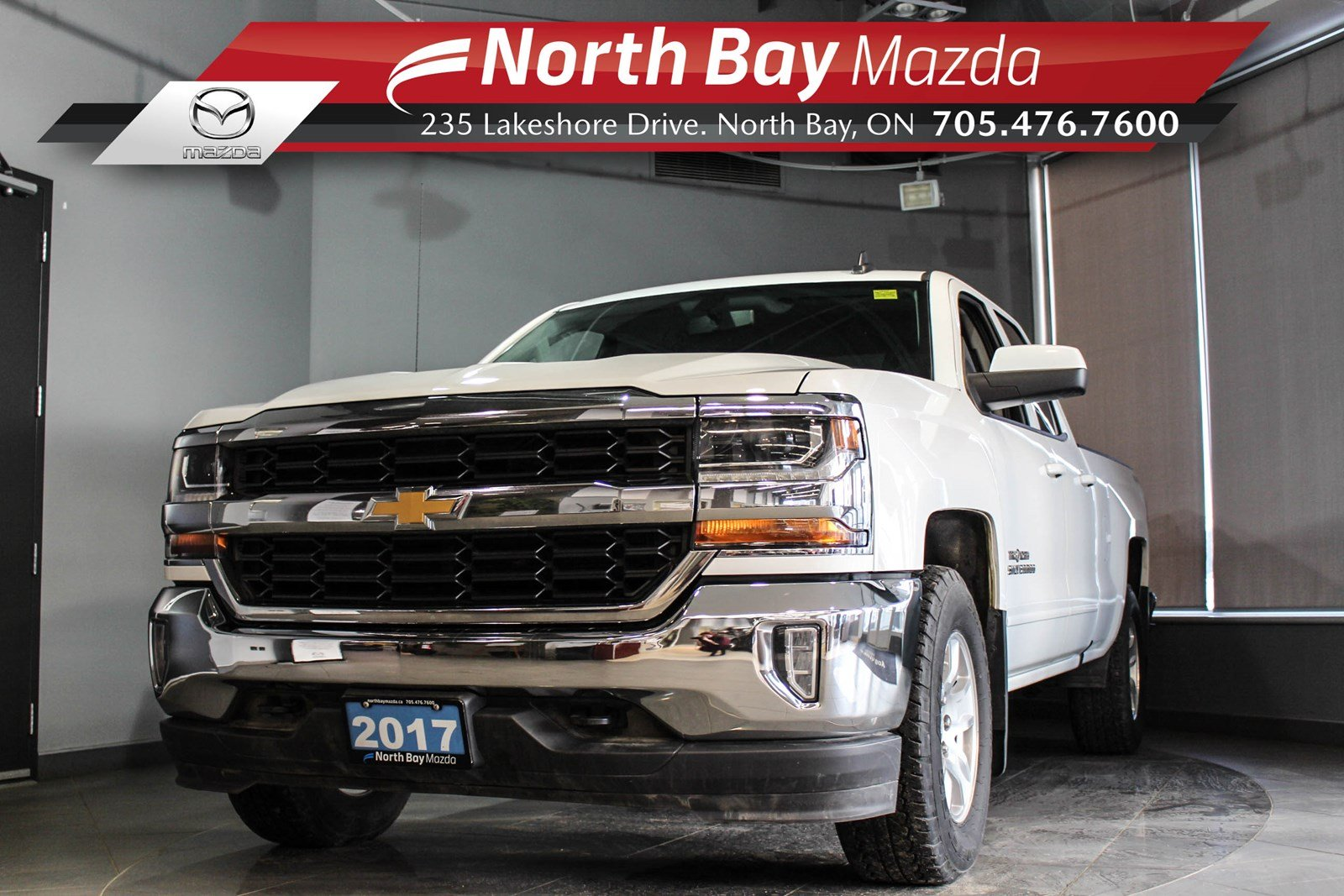 Pre-Owned 2017 Chevrolet Silverado LT Double Cab 4X4 with Bluetooth, Heated Seats