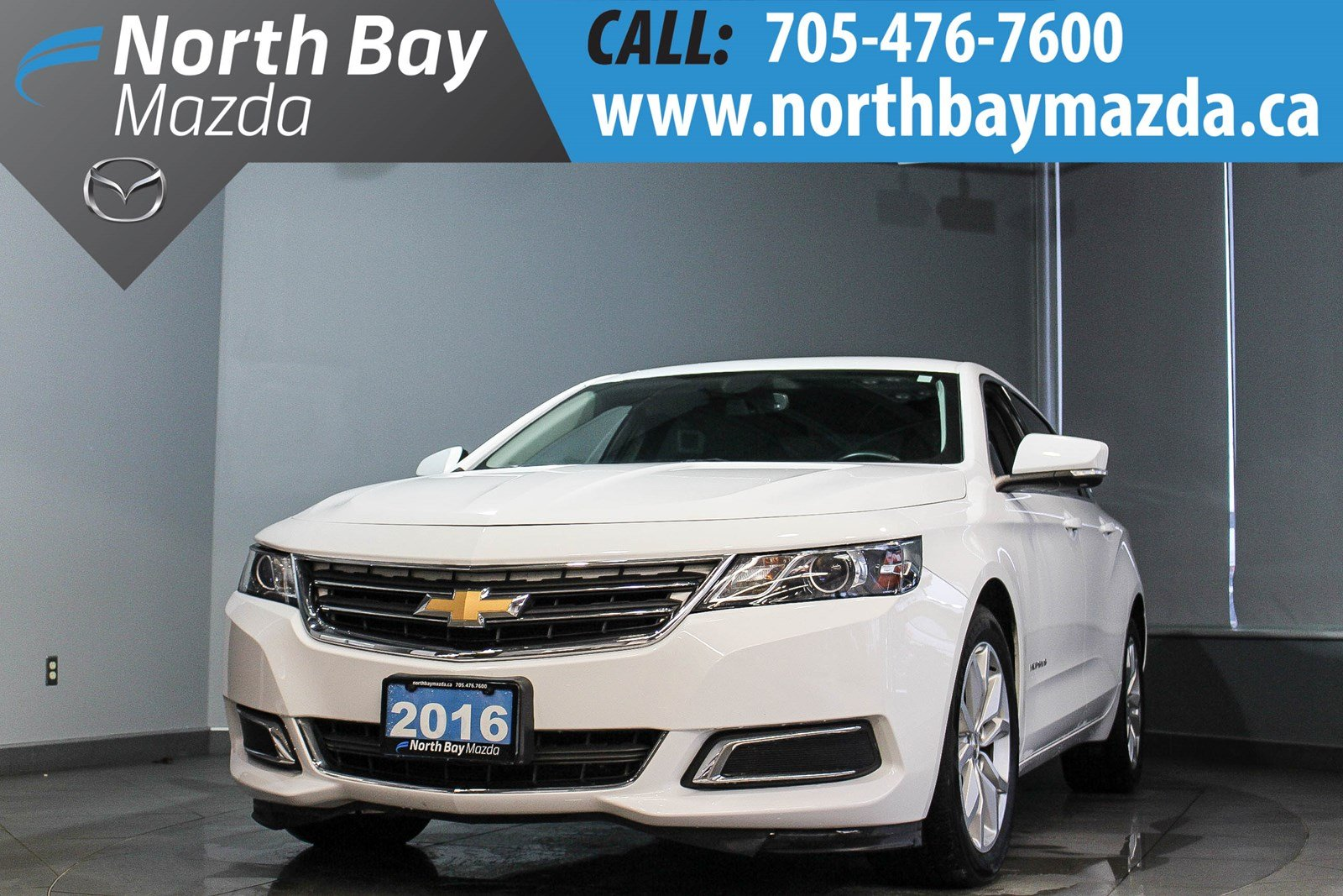 Pre-Owned 2016 Chevrolet Impala LT 6 Cyl with Leatherette, Power Driver Seat