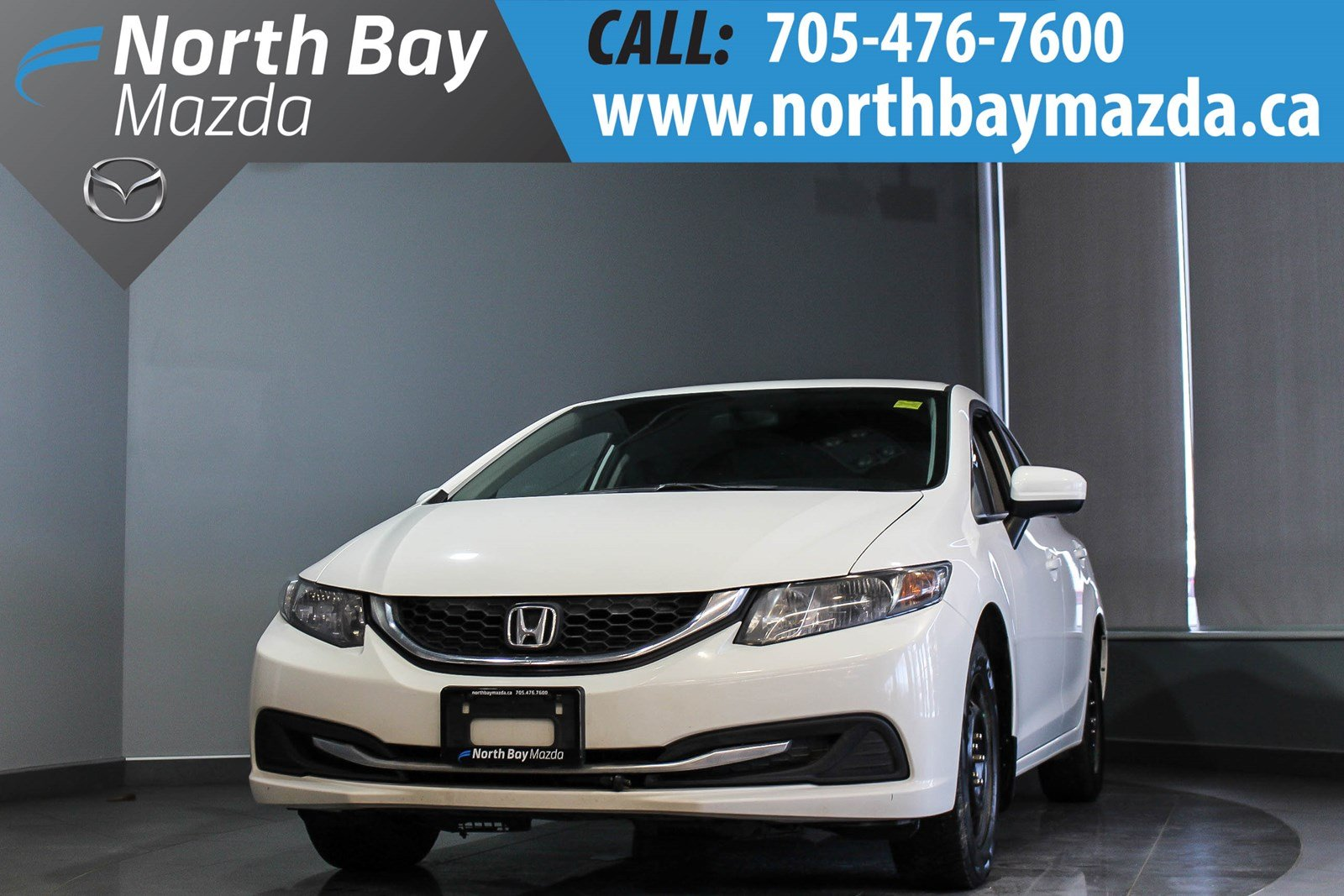 Pre Owned 2015 Honda Civic Lx With Winter Tires Rims Heated Seats