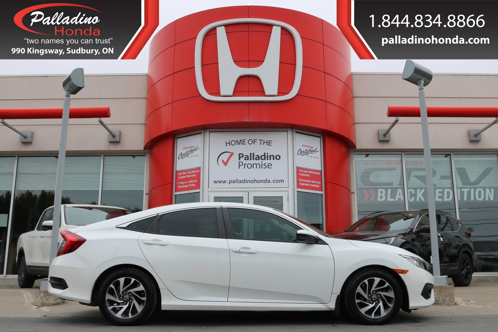Pre-Owned 2016 Honda Civic Sedan EX- BACKUP CAMERA, HEATED SEATS, Honda SENSING