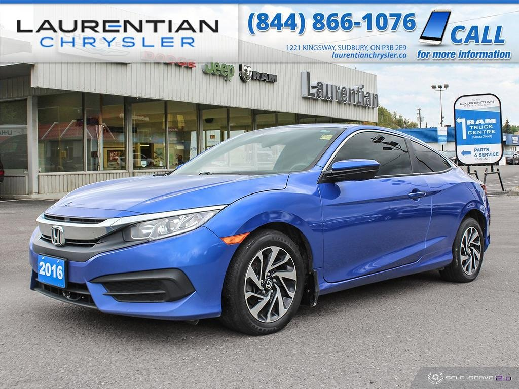 Pre-Owned 2016 Honda Civic Coupe LX - EYE CATCHING, COMPACT AND EFFICIENT !