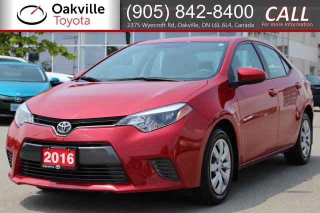 Pre-Owned 2016 Toyota Corolla LE with Clean Carfax and One Owner FWD 4dr Car