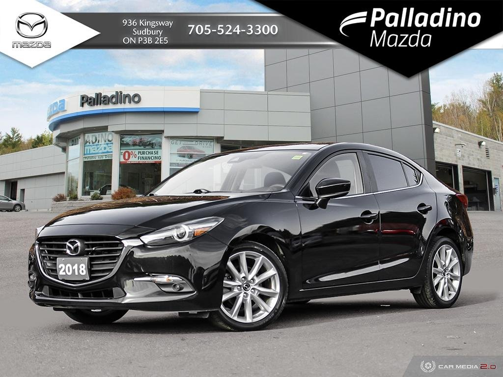 Pre-Owned 2018 Mazda3 GT - POWERFUL 2.5L WITH MANUAL TRANSMISSION - ONE OWNER
