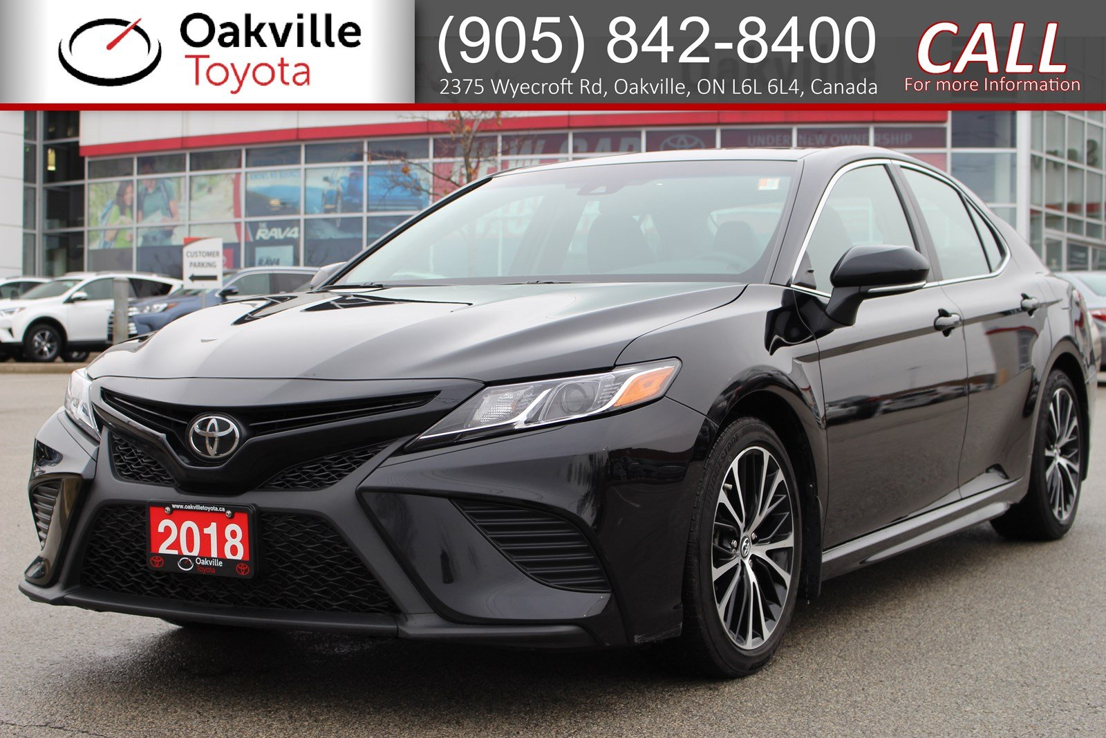Certified Pre-Owned 2018 Toyota Camry SE Upgrade with Single Owner and Clean Carfax