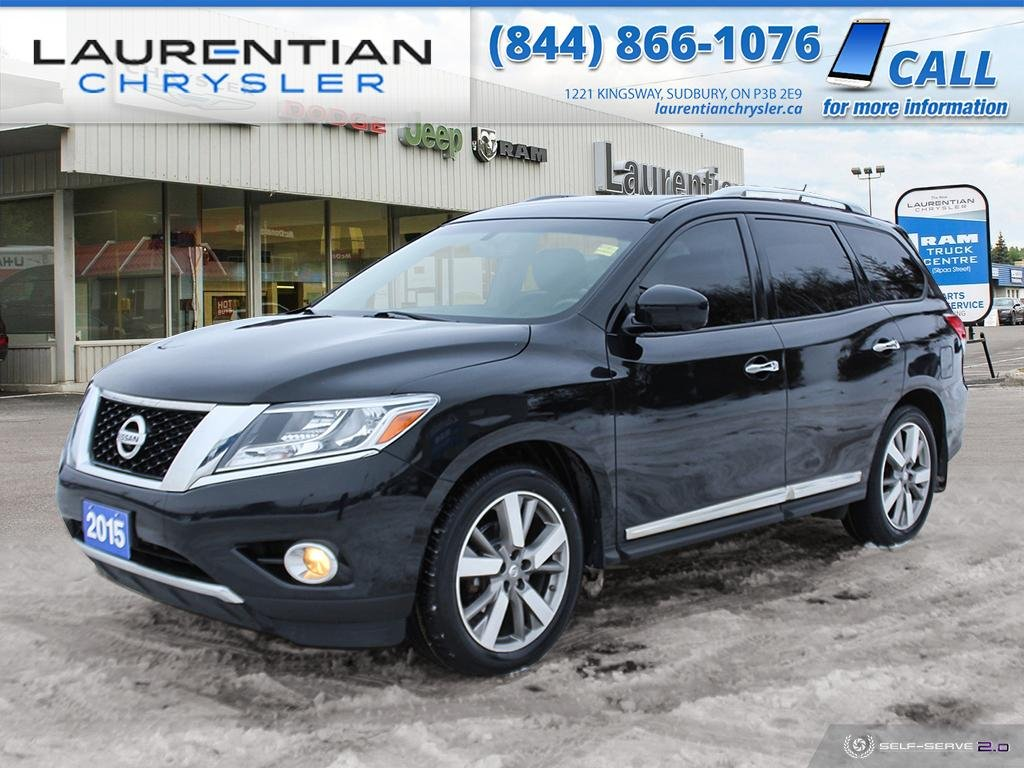 Pre-Owned 2015 Nissan Pathfinder PLATINUM - LOADED! LEATHER ! HEAD REST LCD SCREENS!