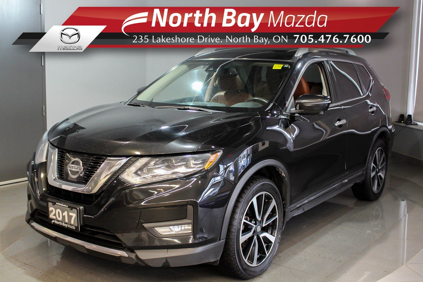 Pre-Owned 2017 Nissan Rogue SL Platinum AWD with Nav, Panoramic Sunroof