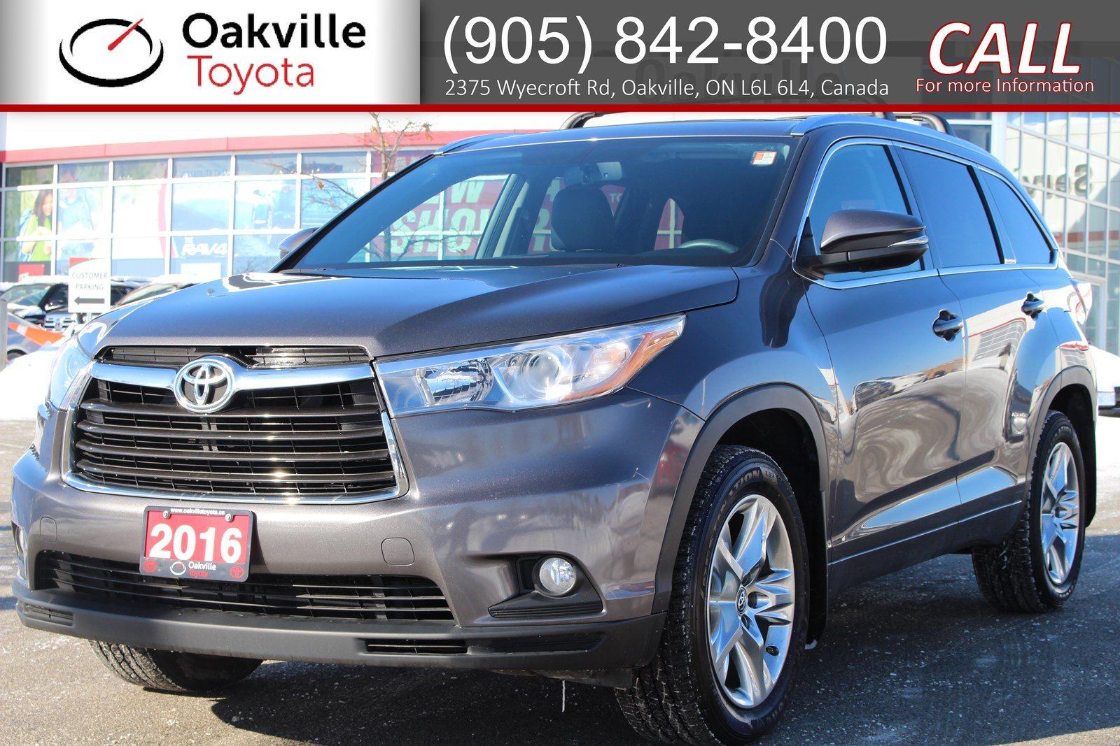 Certified Pre-Owned 2016 Toyota Highlander Limited with Clean Carfax