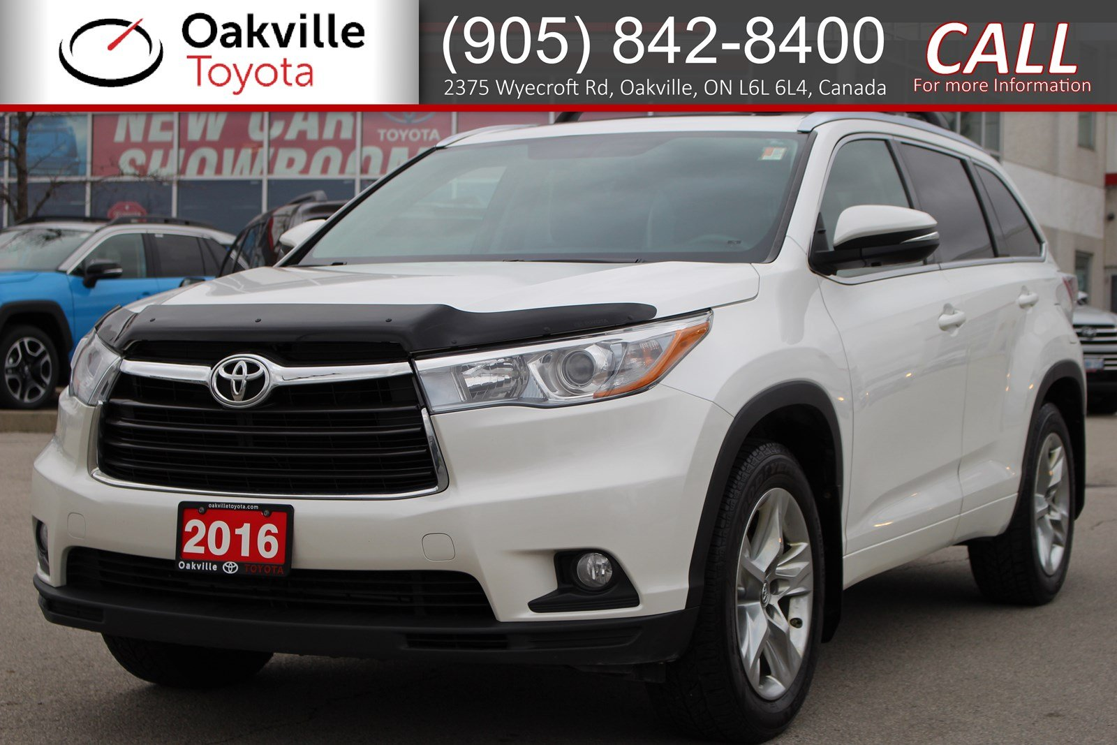 Pre-Owned 2016 Toyota Highlander Limited AWD with Hood Deflector, Clean Carfax, and Single Owner