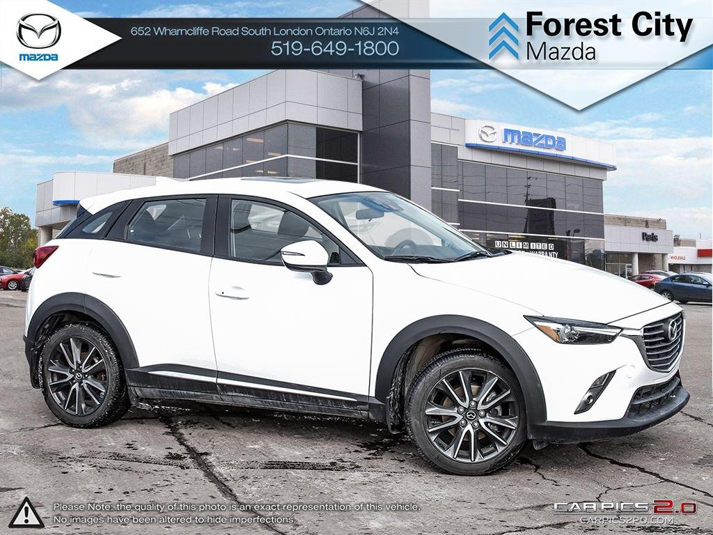 Pre-Owned 2017 Mazda CX-3 | GT | Rare Tech Package | Leather | Sunroof | Blindspot