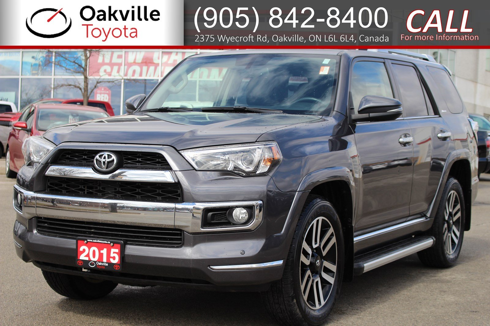 Pre-Owned 2015 Toyota 4Runner SR5 7-Passenger with Running Boards, Clean Carfax and Single Owner