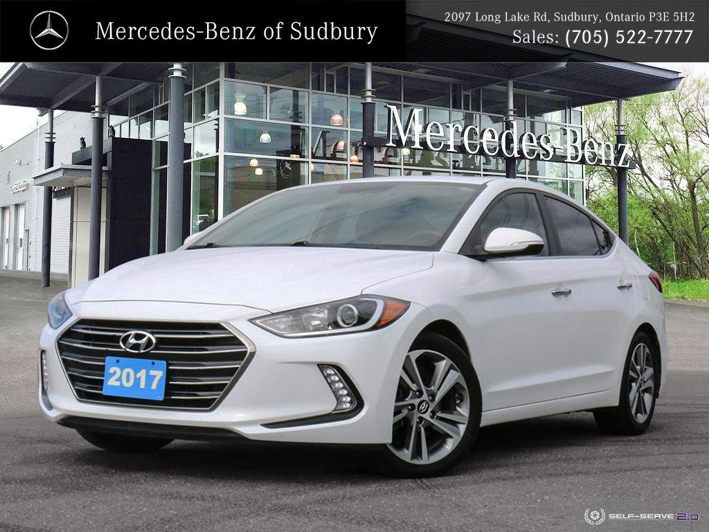 Pre-Owned 2017 HYUNDAI ELANTRA LIMITED - NAVIGATION - HEATED STEERING WHEEL - LEATHER & LOTS MORE!