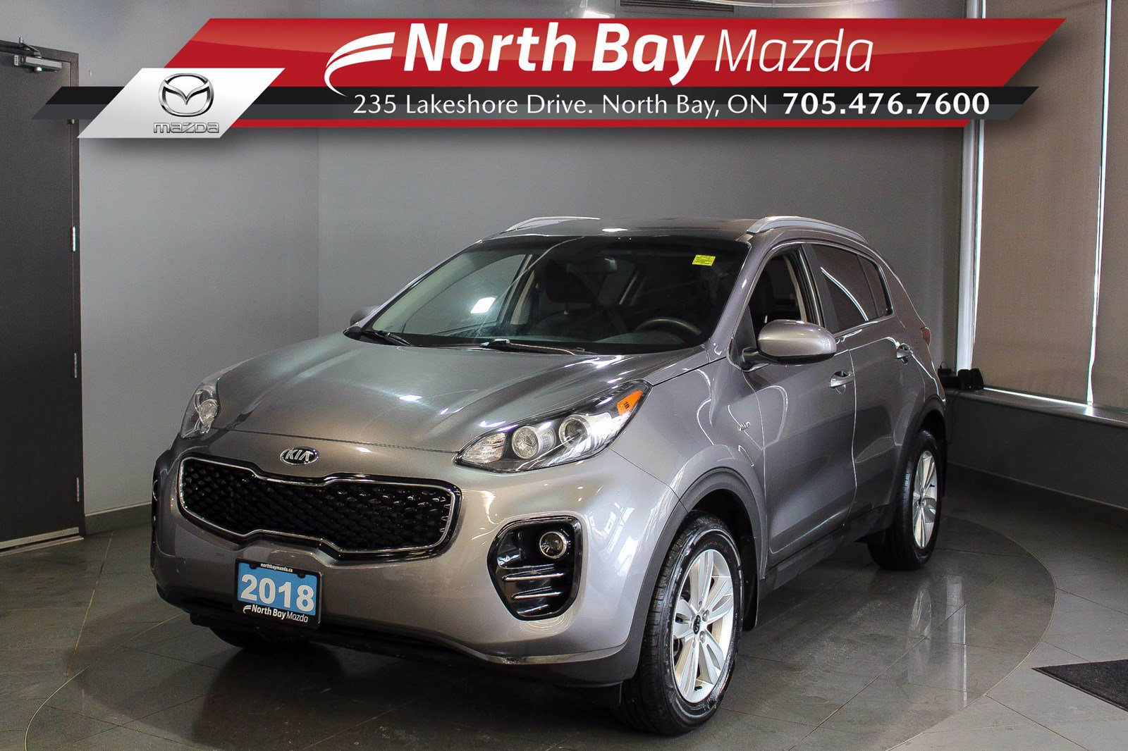 Pre-Owned 2018 Kia Sportage LX AWD with Heated Seats, Bluetooth, Cruise