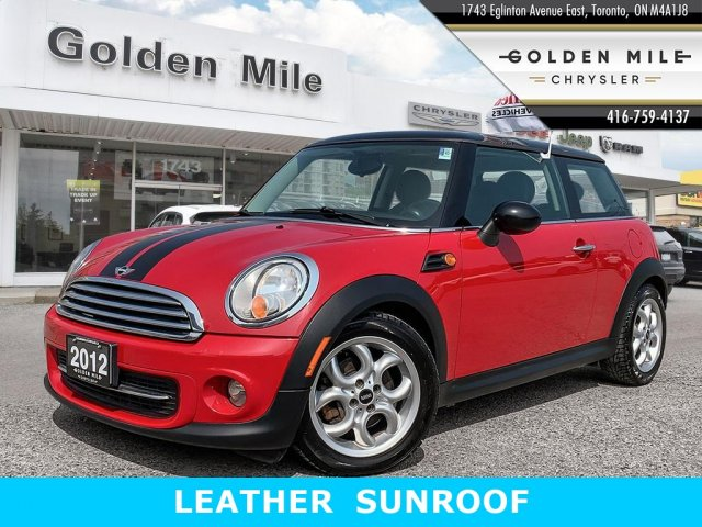 Pre-Owned 2012 MINI Cooper LEATHER SUNROOF
