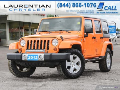 Pre-Owned 2012 Jeep Wrangler Unlimited Sahara - BLUETOOTH, HEATED SEATS, CERTIFIED!!!