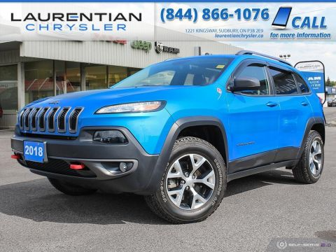 Pre-Owned 2018 Jeep Cherokee Trailhawk - DRIVE LEGENDARY JEEP CAPABILITY !!