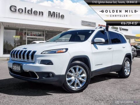 Pre-Owned 2016 Jeep Cherokee Limited|4X4|Leather|Back Up Cam|Clean Carfax