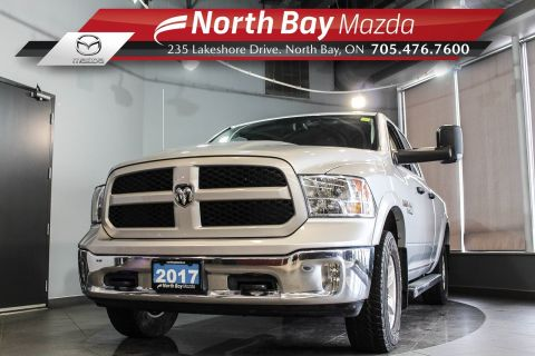 Pre-Owned 2017 Dodge RAM 1500 4X4 Extended Cab with Tonneau Cover, Side Steps!