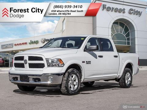 Pre-Owned 2017 Ram 1500 Outdoorsman, 4X4, CREW CAB,BACK UP CAMERA