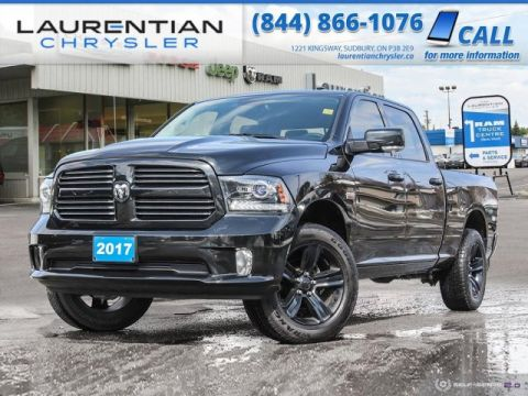 Pre-Owned 2017 Ram 1500 Sport - CREW CAB LONG BOX, EXPERIENCE RAM CAPABILITY AND HEMI POWER !!