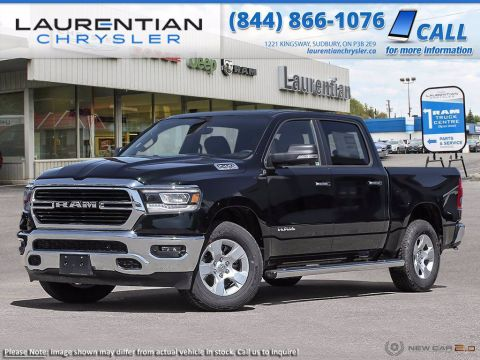 Pre-Owned 2019 Ram 1500 Big Horn, 4X4, BLUETOOTH!! BACK-UP CAM!! SUNROOF!! Four Wheel Drive Crew Cab Pickup