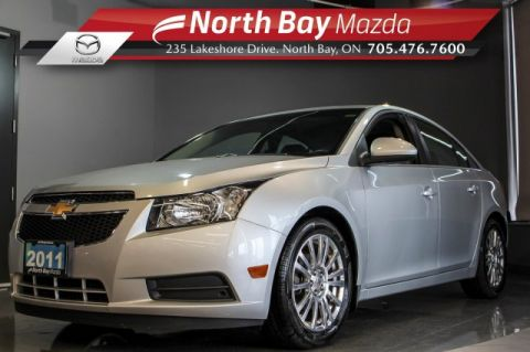 Pre-Owned 2011 Chevrolet Cruze Eco w/1SA FWD with Cruise, Cloth Interior, Auto Headlights
