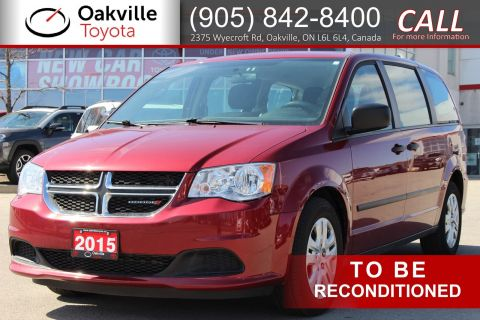 Pre-Owned 2015 Dodge Grand Caravan Canada Value Package with Clean Carfax and Single Owner