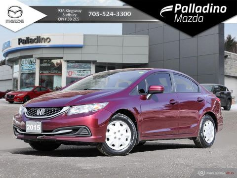 Pre-Owned 2015 Honda Civic Sedan LX - NEW TIRES - COMES WITH WINTER RUBBER