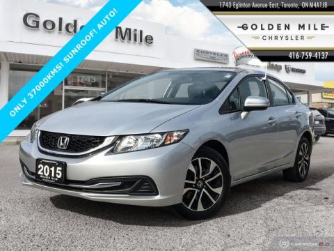 Pre-Owned 2015 Honda Civic EX SUNROOF AUTO CERTIFIED
