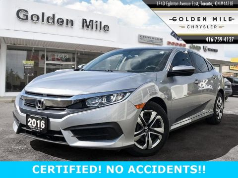 Pre-Owned 2016 Honda Civic Sedan LX AUTO CERTIFIED
