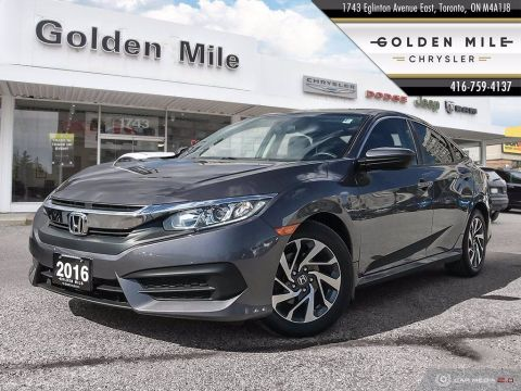 Pre-Owned 2016 Honda Civic Sedan EX|Back up Cam|Sunroof