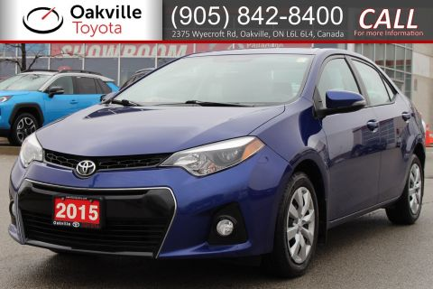 Certified Pre-Owned 2015 Toyota Corolla S with Clean Carfax and Single Owner